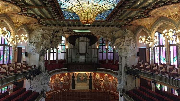 Barcelona's Palau de la Musica Catalana, which opened in 1908 and still hosts performances today.