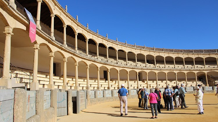 The Plaza de Toros in Ronda, which opened in 1785. In the mid-20th century, famed Ronda matador Antonio Ordonez drew celebrity fans such as Ernest Hemingway and Orson Welles to his matches in Ronda.
