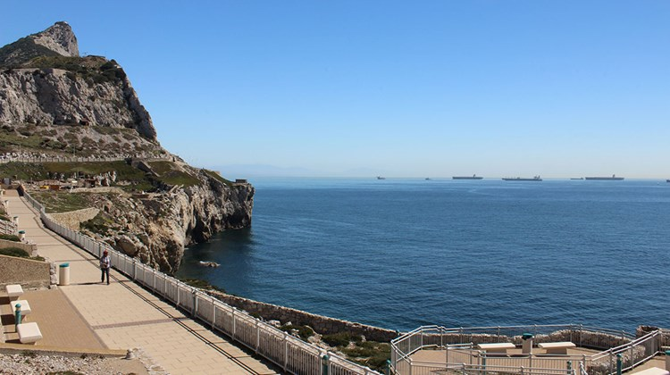 Ships transiting the Straits of Gibraltar.