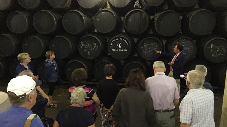 A tour of the Bodegas Tradicion winery in Jerez.