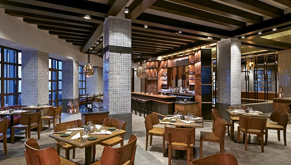 The Cueva Siete restaurant has a menu featuring Mexican flavors.