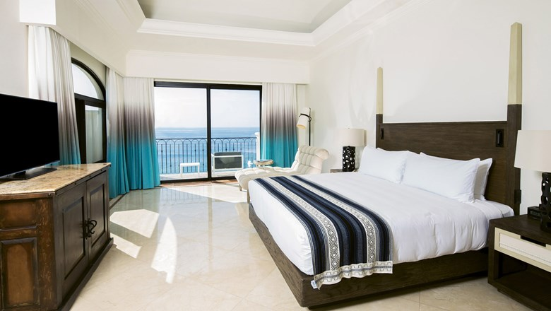 The Presidential Suite at the Hilton Los Cabos Beach & Golf Resort, a AAA Four Diamond property.