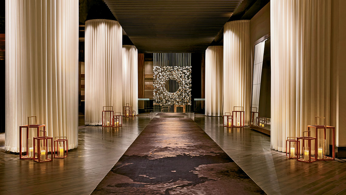 The lobby of the Delano. MGM Resorts rebranded its THEHotel tower in Mandalay Bay as the Delano in 2014, working closely with Morgans Hotel Group to capture the essence of the South Beach-based brand.