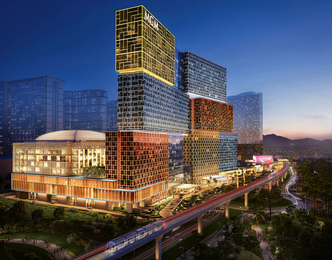 A rendering of the 1,400-room MGM Cotai.
