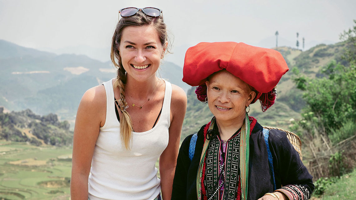 "Visit.org sends ""ambassadors"" to vet its partner nonprofit programs. Here one of its ambassadors meets with a member of Sapa O'Chau, a group that organizes responsible treks and homestays in Vietnam."