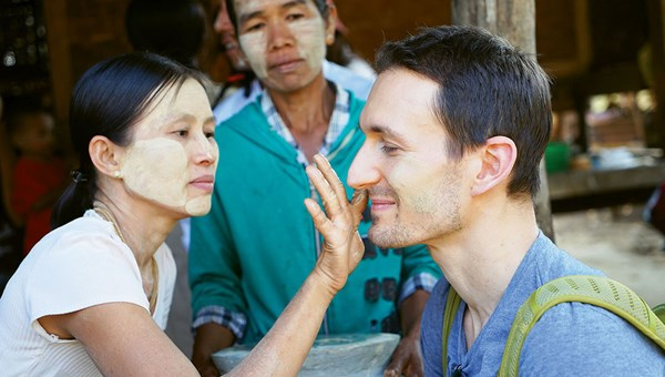 Intrepid has partnered with ActionAid in Myanmar on a community tourism initiative in Myaing Township outside Bagan, where travelers participate in cultural exchanges and learn about village life.