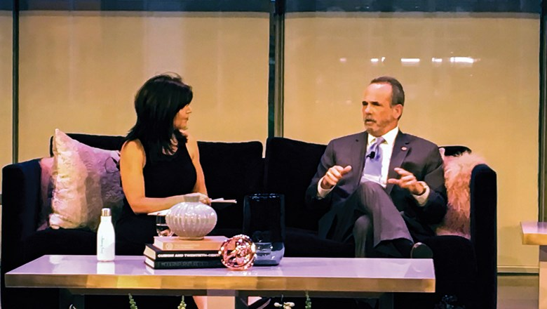 Aspire CEO Renie Cavallari interviews Trump Hotels CEO Eric Danziger at the Boutique & Lifestyle Lodging Association conference.