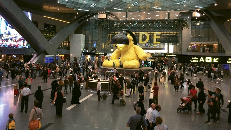 Hamad Airport in Doha, Qatar, is one of the 10 airports where passengers heading to the U.S. are prohibited from carrying large electronics onboard a flight.