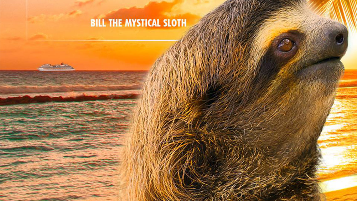 Carnival Promotes Summer Cruising With Clairvoyant Sloth
