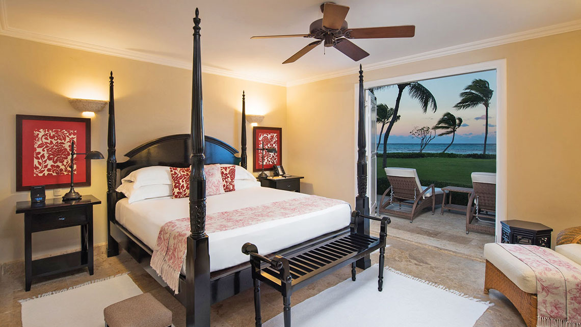 An oceanfront, two-bedroom suite at the Tortuga Bay Hotel.