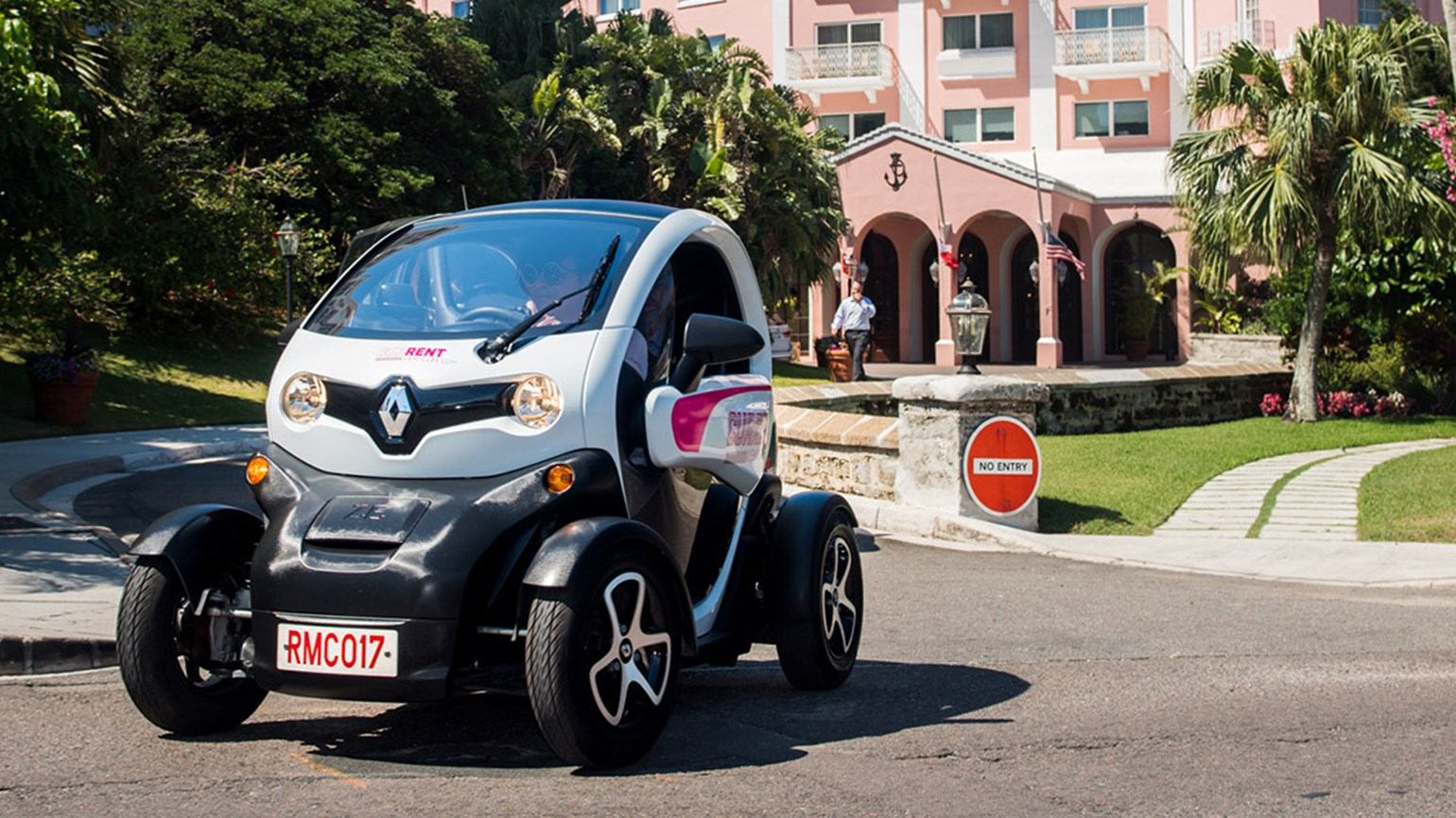 Hamilton Princess renting out Renault electric buggies