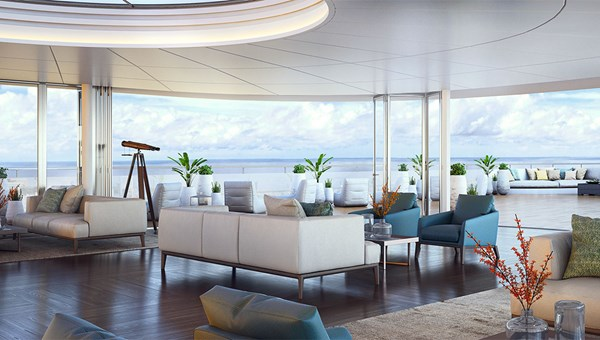 Ritz-Carlton yachts will feature an Observation Lounge.