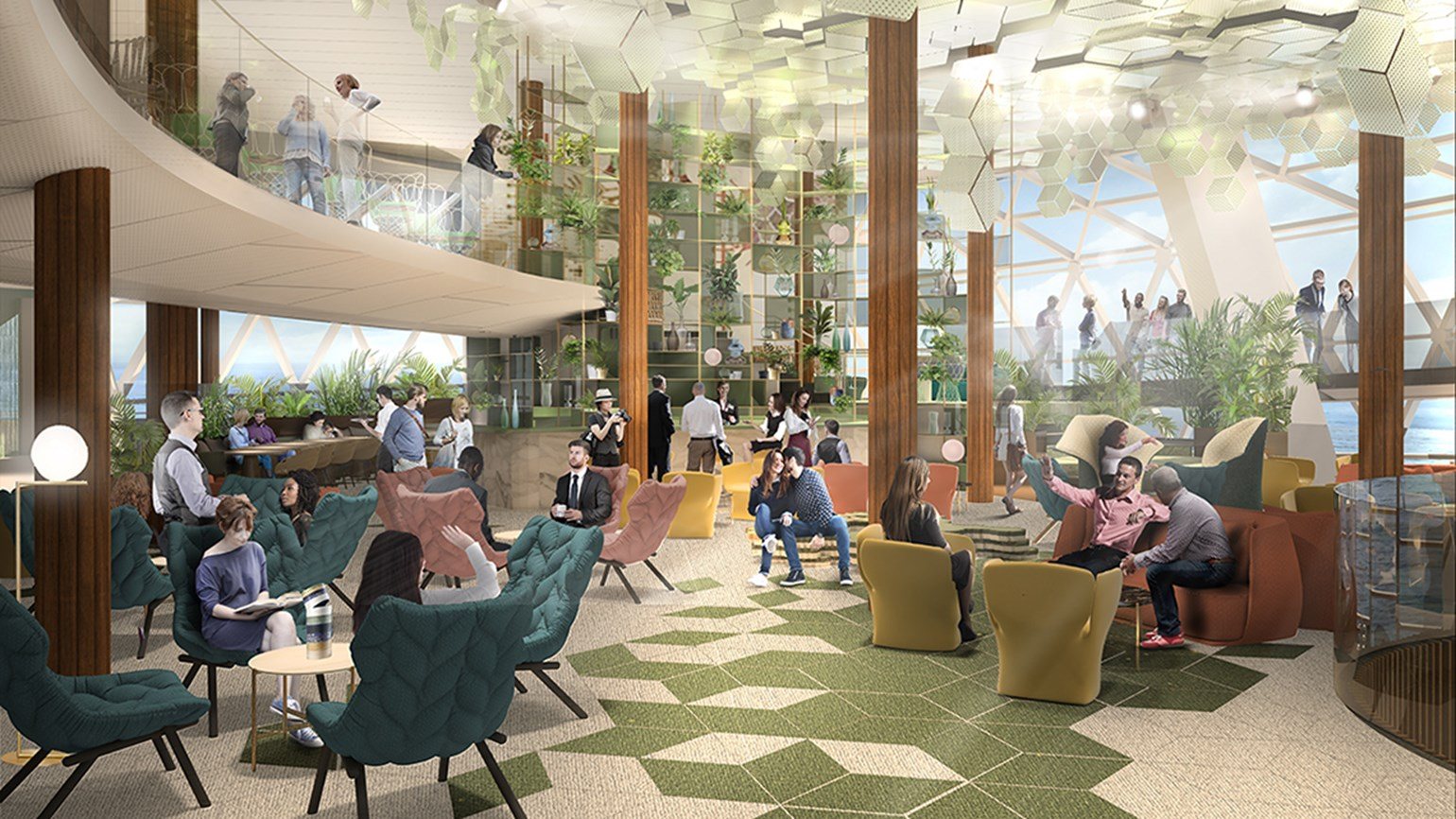 Celebrity Edge to feature three-deck, glass-enclosed lounge