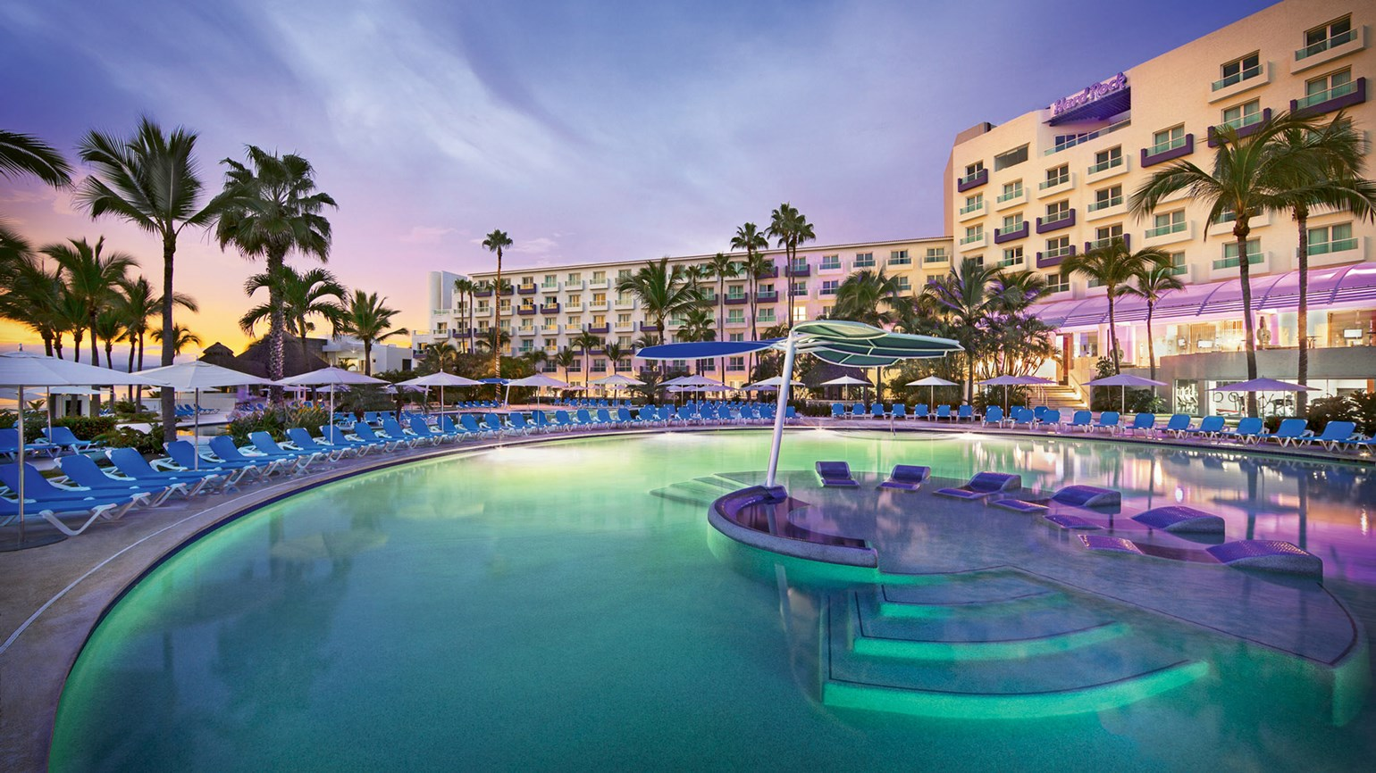One Of Two Pools At The Hard Rock Hotel Vallarta 348 Room Property Is Located In Nuevo Riviera Nayarit Region