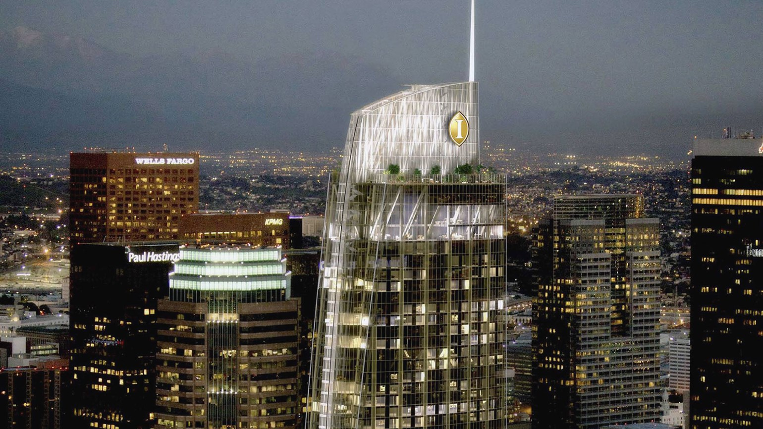 Intercontinental Hotel Opens In L A S Tallest Skyser
