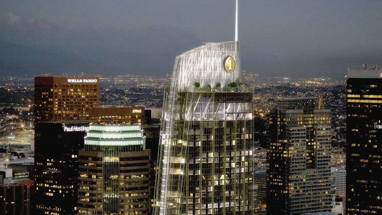 Intercontinental Hotel Opens In L A S Tallest Skyscraper Travel Weekly