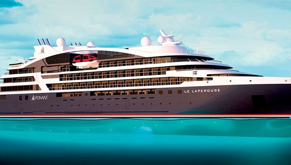 A rendering of Le Laperouse, expected to debut in the summer of 2018 with a maiden voyage in Iceland.