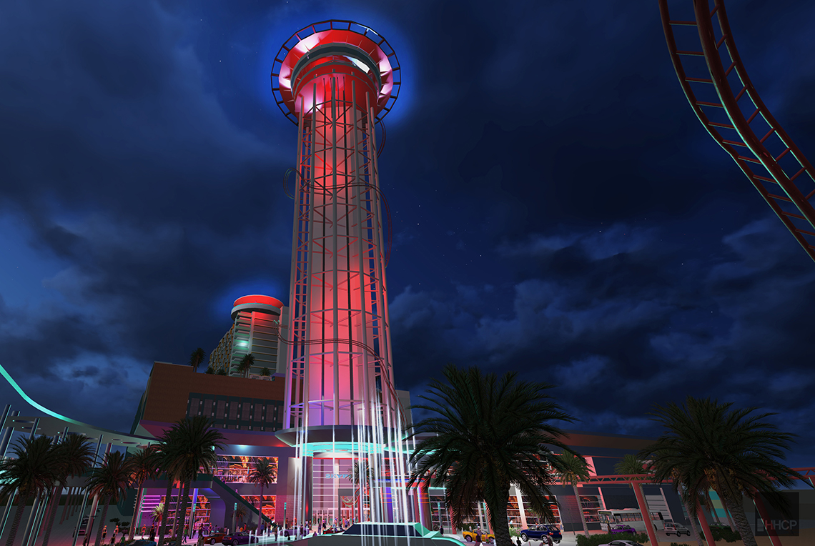 A rendering of the SkyPlex Entertainment Complex.