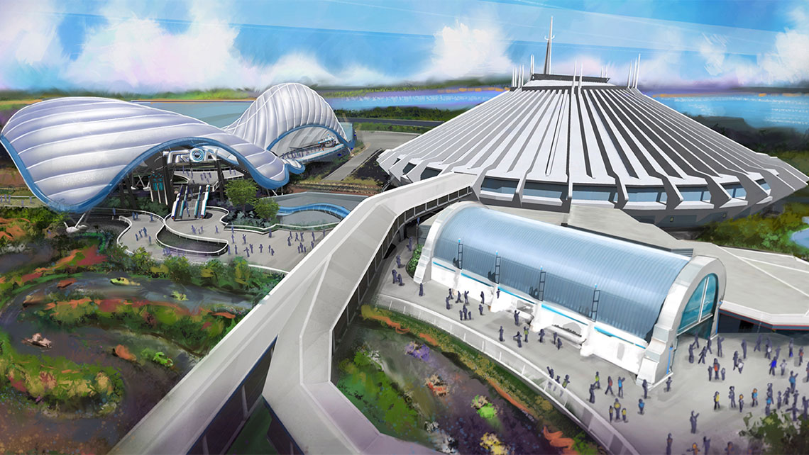 A Tron attraction will be built near Space Mountain at the Magic Kingdom.