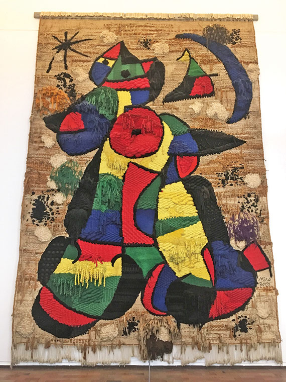 """The Tapestry of the Fundacio"" by Joan Miro, on display at the Miro Museum."