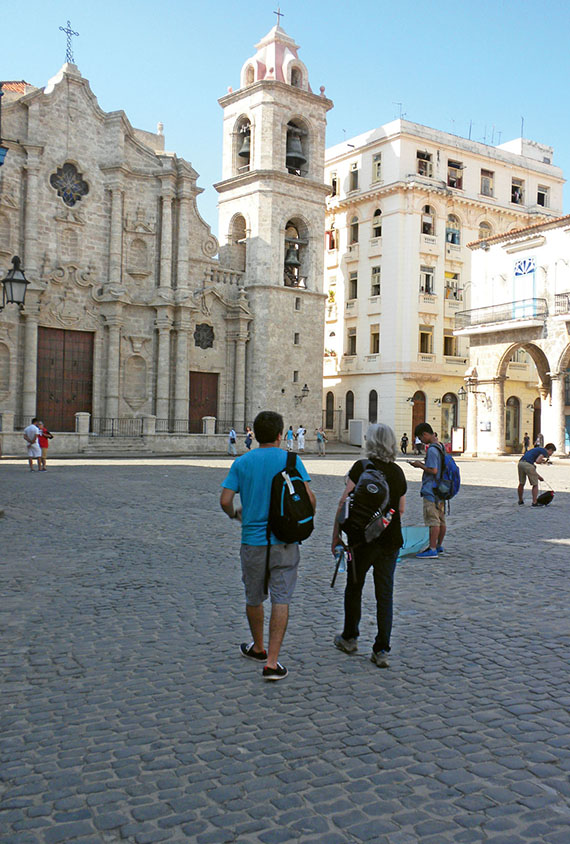 Cathedral Square in Old Havana. The massive limestone cathedral was built by the Spanish in the 1770s.