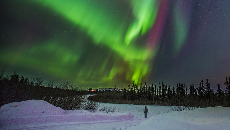 Gondwana Ecotours offers aurora borealis tours from September through March.