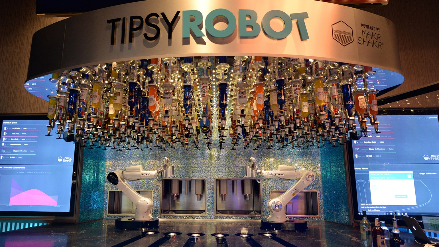 The robots are here … to make you a drink