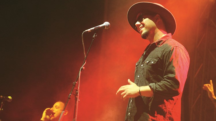 French pop star Ben l'Oncle Soul performed on the fourth night of the Festival Jazz a l'Hospitalet.