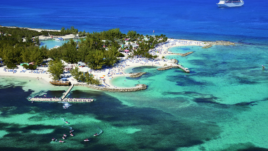 Royal Caribbean International is planning to add a permanent pier to its private island CocoCay, timed to the debut of the Symphony of the Seas next spring.