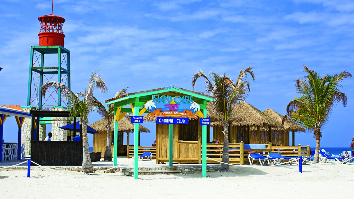 Cabanas on Royal Caribbean's CocoCay.