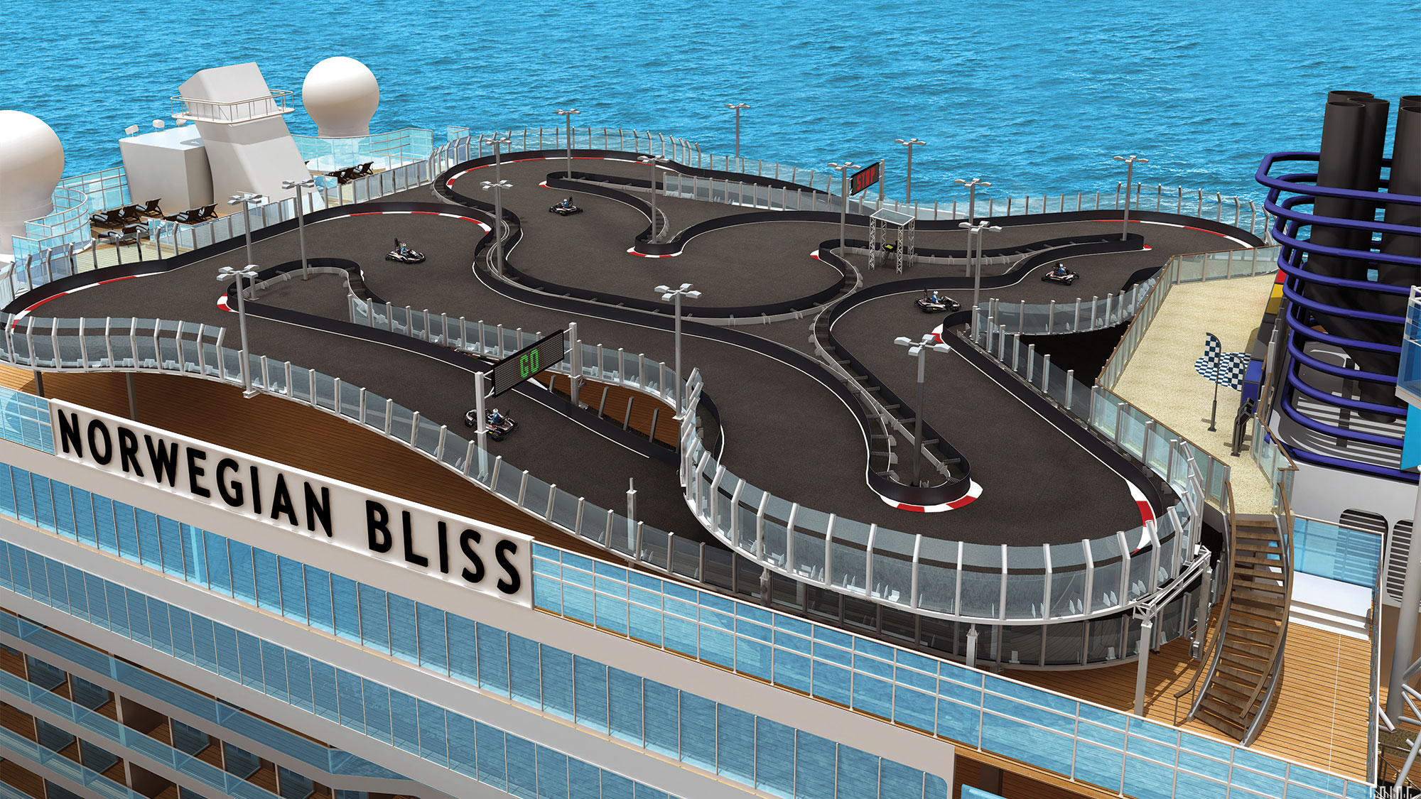 Norwegian Bliss Going Big With Go Cart Track Other