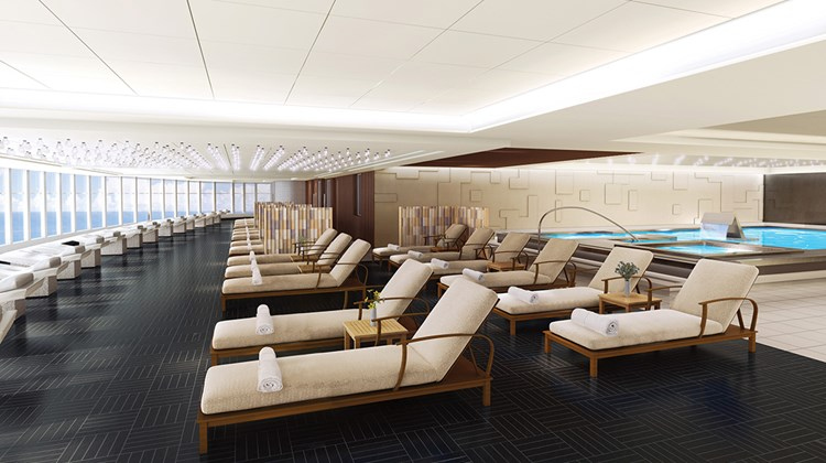 The Bliss' spa will have a thermal suite with loungers.