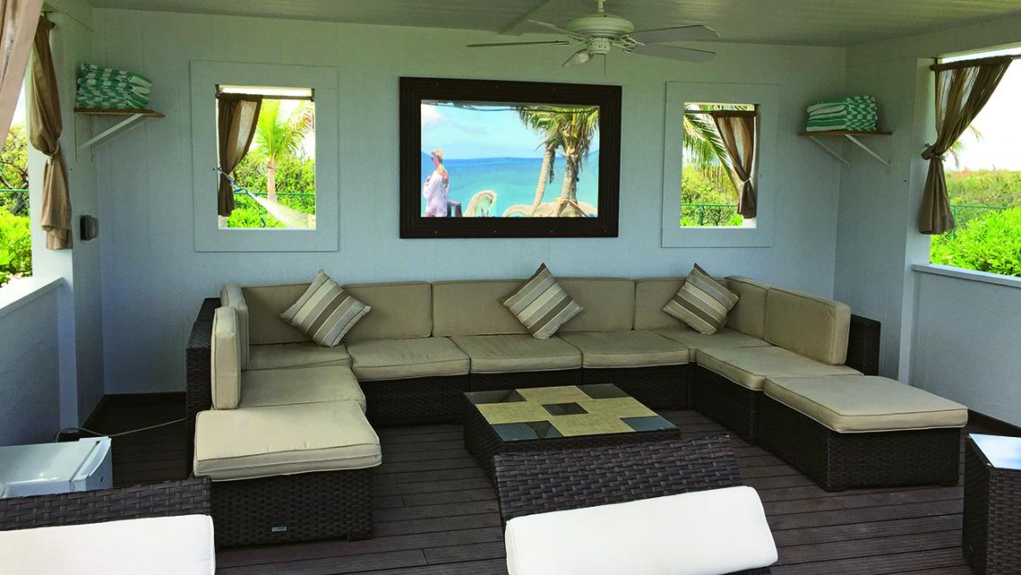 A cabana at Great Stirrup Cay.