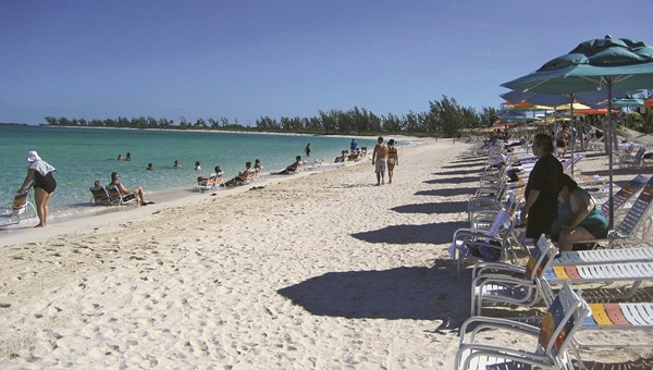 Disney Cruise Line's private island Castaway Cay in the Bahamas.