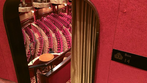 The ship's three-tier theater is modeled after theaters in London's West End, complete with boxes.