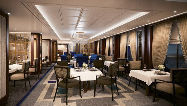 A rendering of the new Britannia Club restaurant, which was added in space previously used for the Carinthia Cafe.
