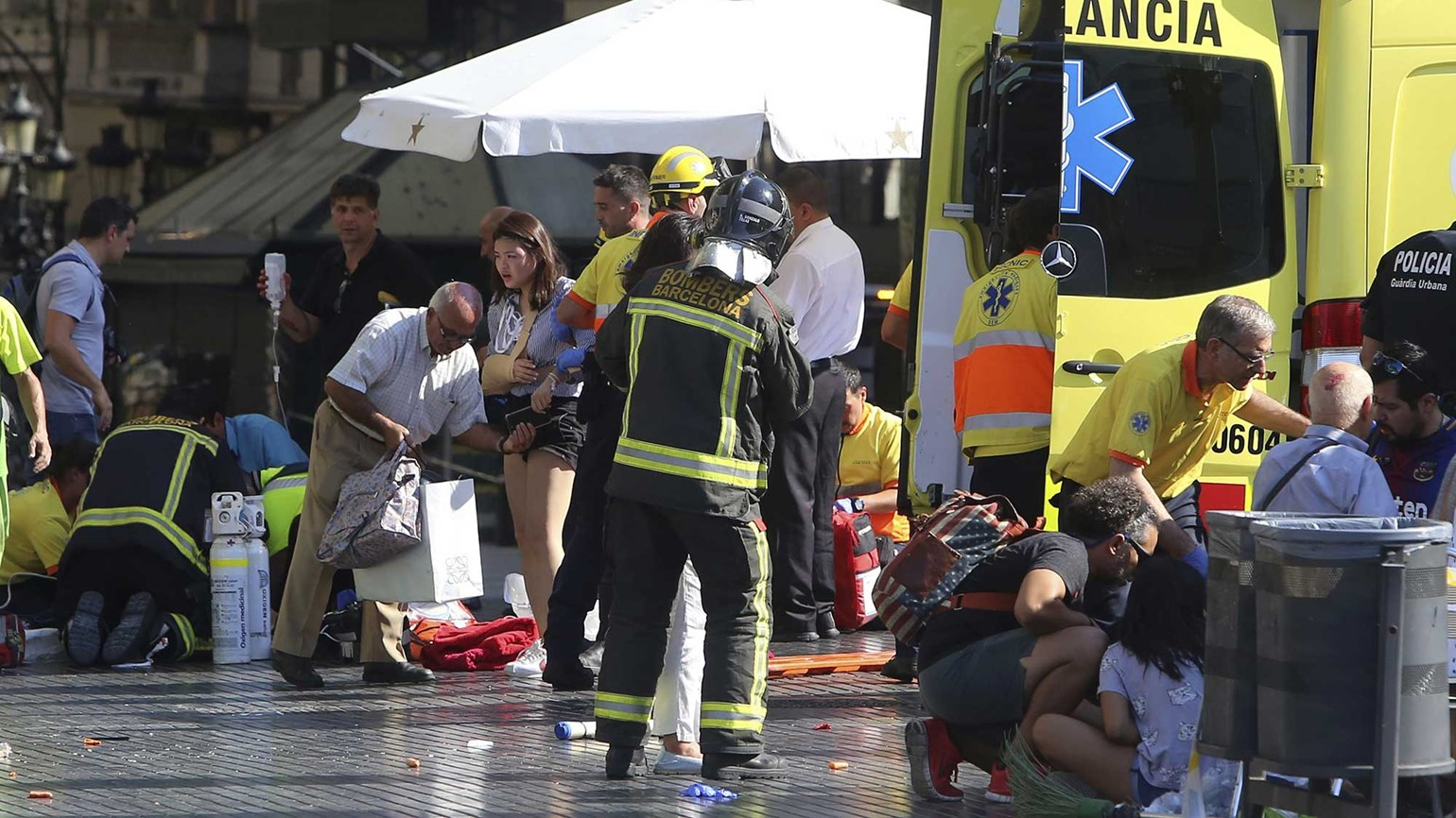 Van plows through pedestrians on Barcelona's Las Ramblas