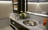The Skye has six bathrooms aboard that have ETRO bath products and music piped in.