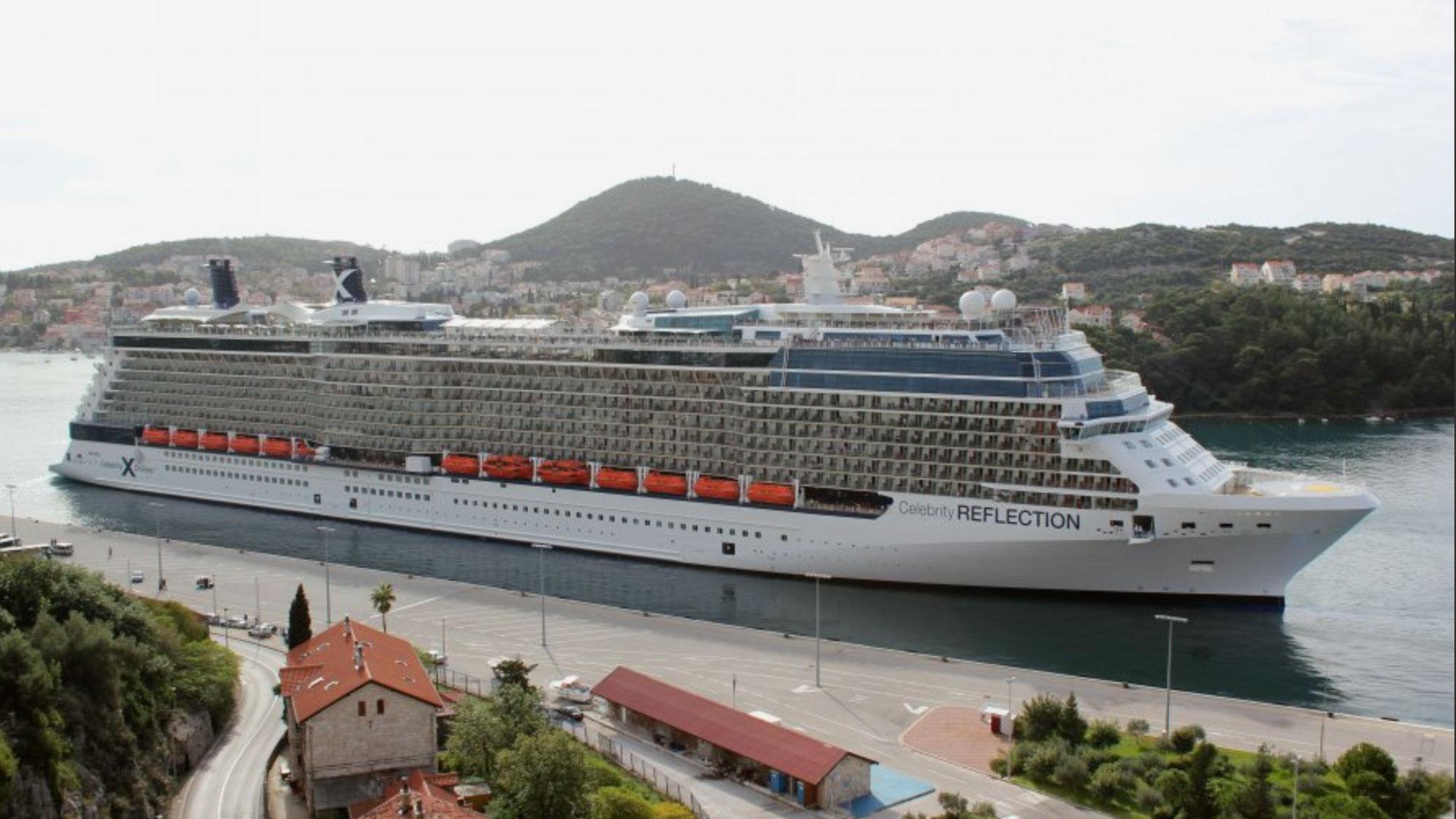 The Celebtity Reflection in Dubrovnik.