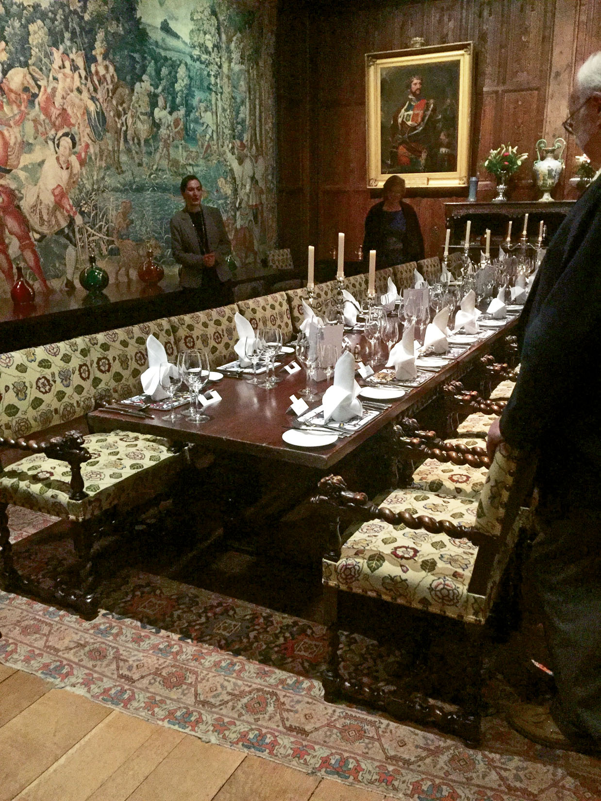The dining room at Hever Castle in Kent. Photo Credit: Felicity Long