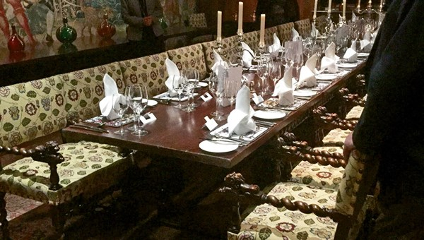 The dining room at Hever Castle in Kent.