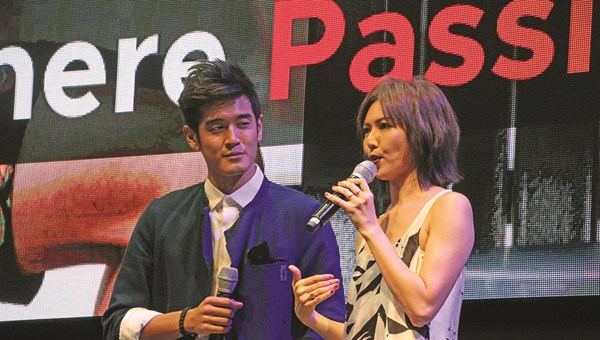 "Singaporean pop singers Nathan Hartono and Stefanie Sun discuss their appearance in ads under Singapore's new ""Passion Made Possible"" effort."