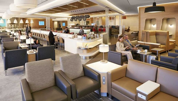 The elegant layout of the remodeled JFK Flagship Lounge.