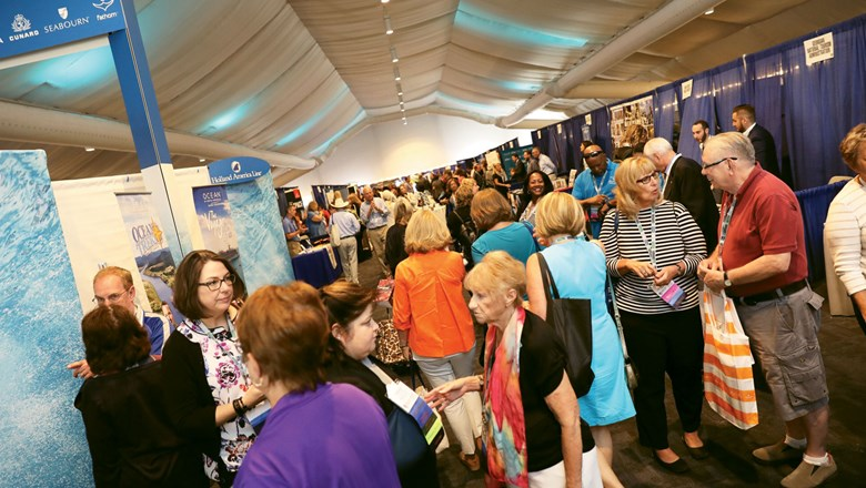 The trade show floor was packed at the ASTA Global Convention in San Diego last month.