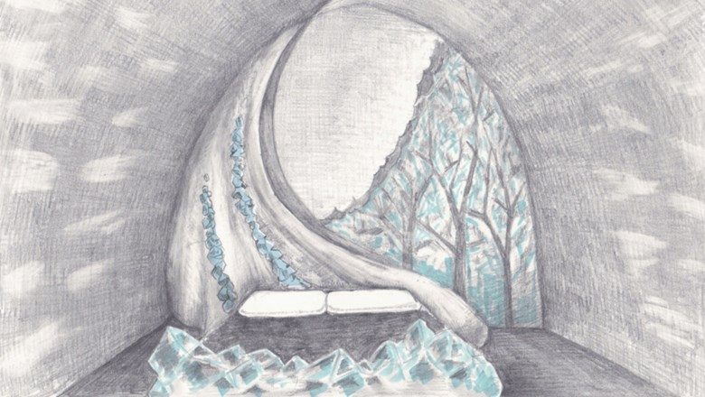 An artist's rendering of the new Art Suites for 2018 at the Icehotel in Jukkasjarvi, Sweden.