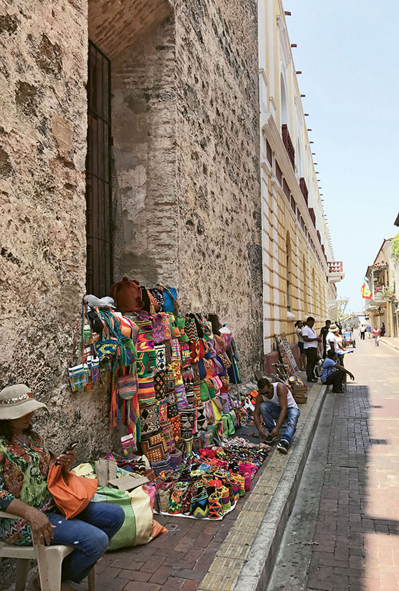 Vendors in Cartagena's Old City, which was built by the Spanish in the early 1500s to protect the port from pirates and other hostilities. Photo Credit: Jeri Clausing