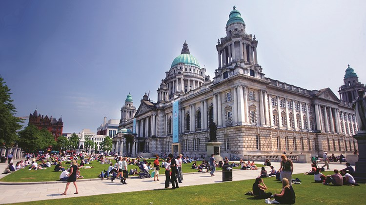 The Renaissance-style City Hall in Belfast, nicknamed &#39;&#39;The Wedding Cake,&#39;&#39; was finished in 1909 and renovated in 2009.<br /><br /><strong>Photo Credit: Brian Morrison/Tourism Ireland</strong>