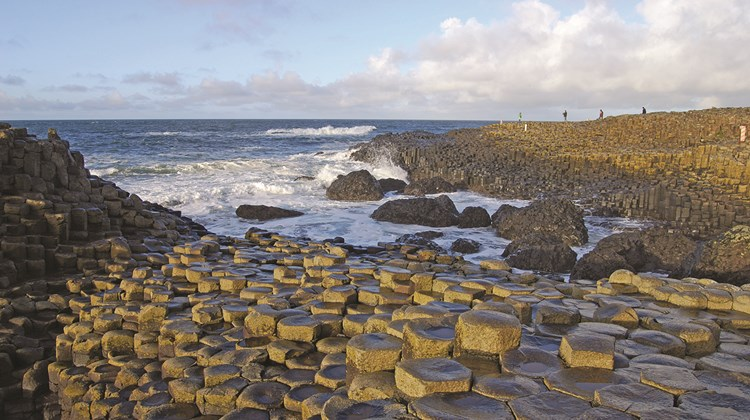 Giant&#39;s Causeway, a collection of 40,000 basalt columns that are the result of a volcanic eruption over 50 million years ago that is now a Unesco World Heritage site.<br /><br /><strong>Photo Credit: Chmee2/Wikimedia Commons</strong>