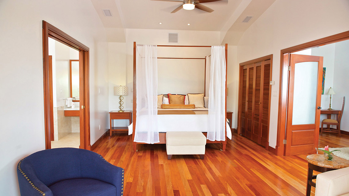 The master suite at the San Ignacio Resort Hotel is a 26-room, family-run hotel in San Ignacio, Belize.