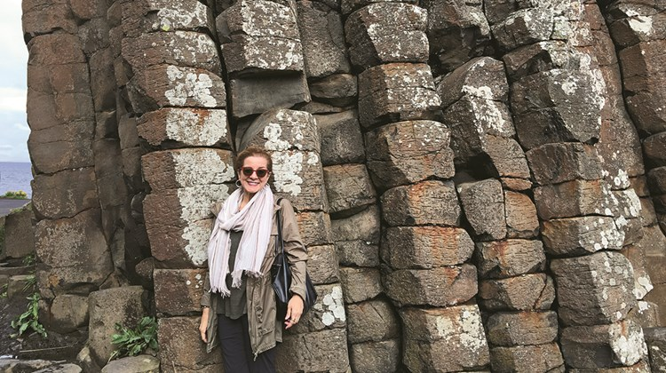 Author Patricia Schultz at Giant&#39;s Causeway.<br /><br /><strong>Photo Credit: Courtesy of Patricia Schultz</strong>